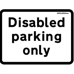 Sign - Disabled Parking Only