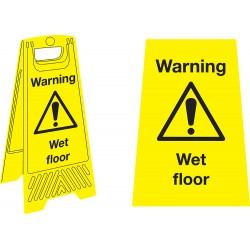 Sign - Caution Wet Floor Stand - 680mm x 300mm