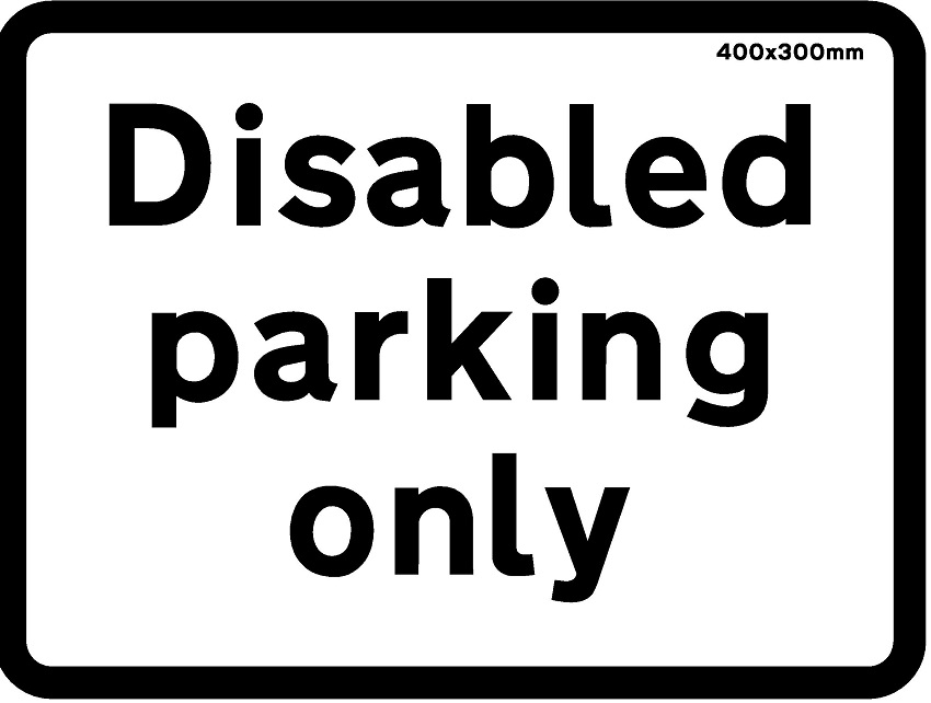 official promo code factory price Sign - Disabled Parking Only